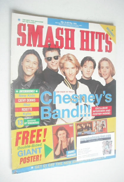 <!--1991-05-15-->Smash Hits magazine - Chesney's band cover (15-28 May 1991