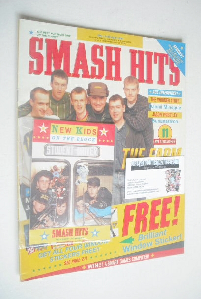 <!--1991-04-17-->Smash Hits magazine - The Farm cover (17-30 April 1991)