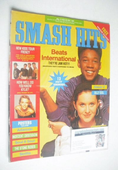 <!--1990-05-16-->Smash Hits magazine - Beats International cover (16-29 May