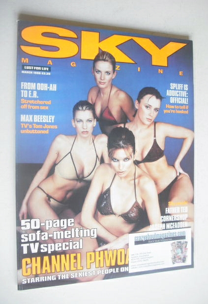 <!--1998-03-->Sky magazine - Claire Goose, Catalina, Keeley Hawes and Davin