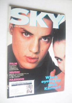 Sky magazine - Nick Kamen and Charlotte Lewis cover (23 April - 6 May 1987 - 1st Issue)