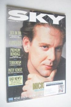 Sky magazine - Mickey Rourke cover (February 1988)