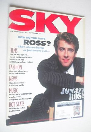<!--1987-09-10-->Sky magazine - Jonathan Ross cover (10-23 September 1987)