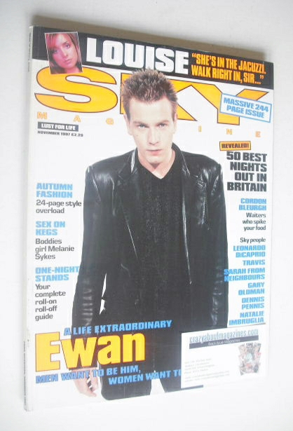 <!--1997-11-->Sky magazine - Ewan McGregor cover (November 1997)