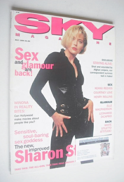 <!--1994-05-->Sky magazine - Sharon Stone cover (May 1994)