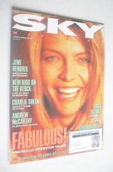 Sky magazine - Michelle Pfeiffer cover (April 1990)