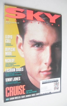 Sky magazine - Tom Cruise cover (March 1990)