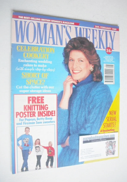 <!--1989-02-28-->Woman\'s Weekly magazine (28 February 1989 - British Editi