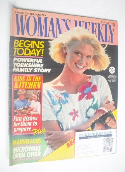 <!--1985-07-27-->Woman's Weekly magazine (27 July 1985 - British Edition)