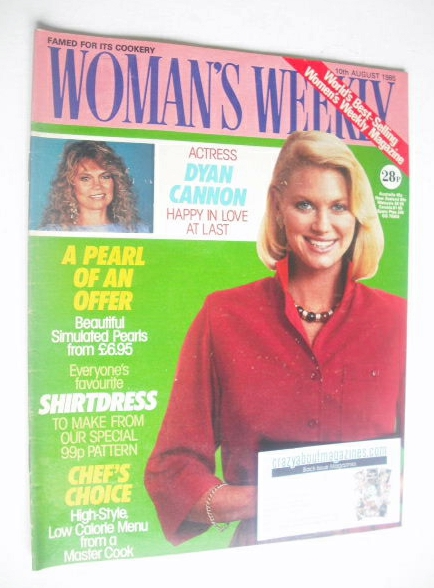 <!--1985-08-10-->Woman's Weekly magazine (10 August 1985 - British Edition)
