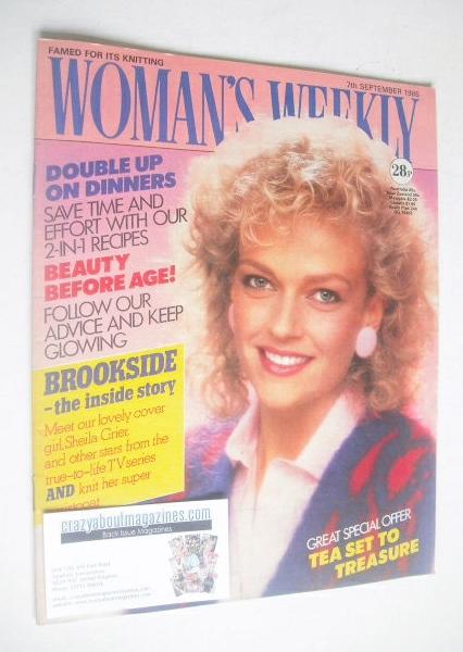 <!--1985-09-07-->Woman's Weekly magazine (7 September 1985 - British Editio