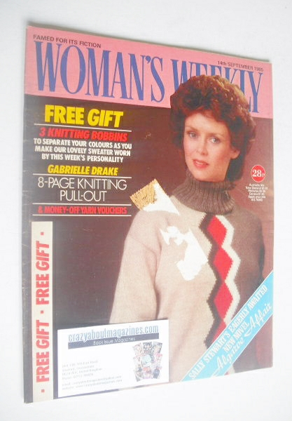 <!--1985-09-14-->Woman's Weekly magazine (14 September 1985 - British Editi