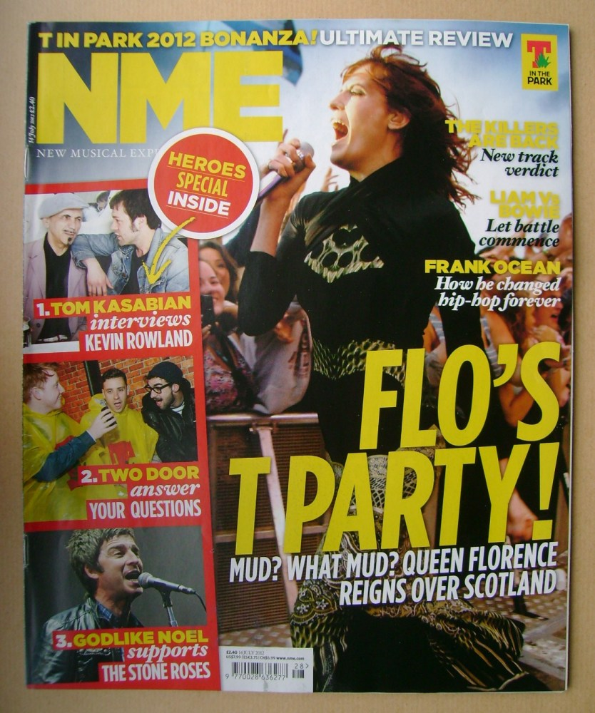 <!--2012-07-14-->NME magazine - Flo's Party! cover (14 July 2012)