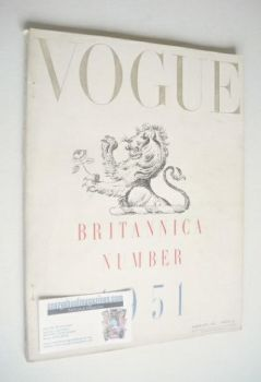 British Vogue magazine - February 1951 (Vintage Issue)