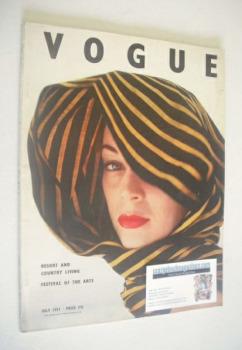 British Vogue magazine - July 1951 (Vintage Issue)