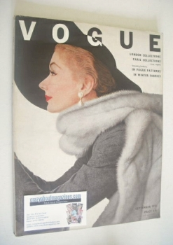 British Vogue magazine - September 1951 (Vintage Issue)