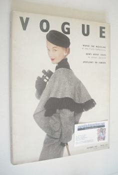 British Vogue magazine - October 1951 (Vintage Issue)