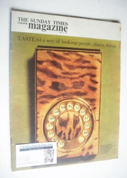 The Sunday Times magazine - Ocelot Telephone Pad cover (10 May 1964)