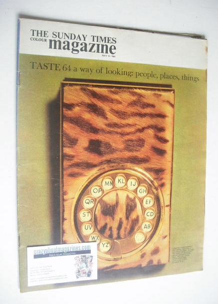 <!--1964-05-10-->The Sunday Times magazine - Ocelot Telephone Pad cover (10