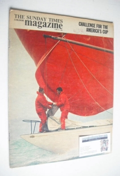 The Sunday Times magazine - Challenge For The America's Cup cover (21 June 1964)