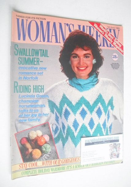 <!--1985-06-01-->Woman's Weekly magazine (1 June 1985 - British Edition)