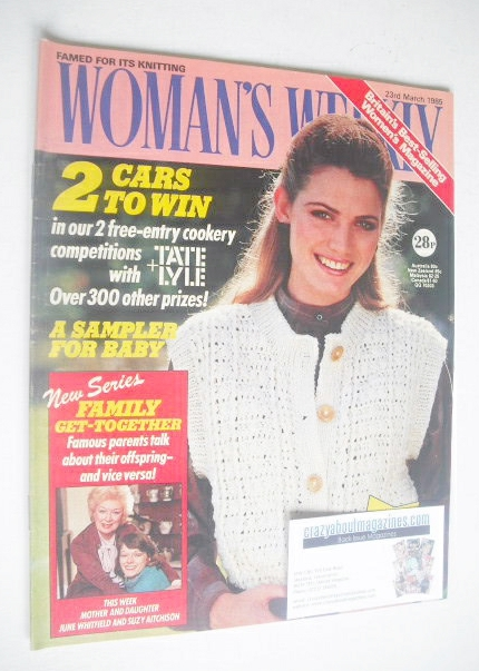 <!--1985-03-23-->Woman's Weekly magazine (23 March 1985 - British Edition)
