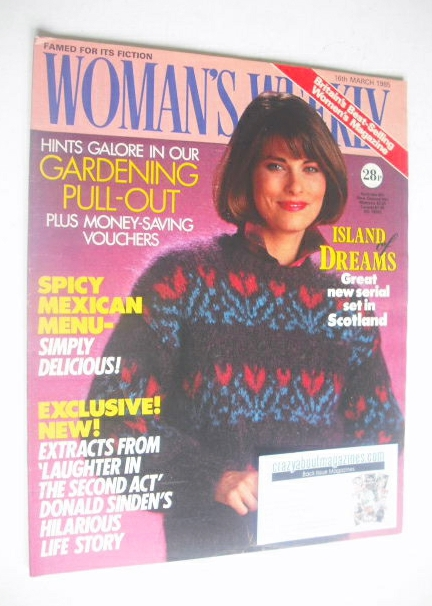 <!--1985-03-16-->Woman's Weekly magazine (16 March 1985 - British Edition)