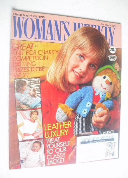 <!--1985-03-09-->Woman's Weekly magazine (9 March 1985 - British Edition)