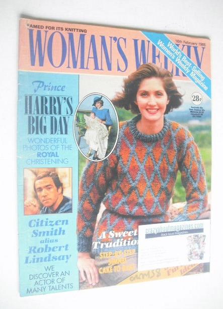 <!--1985-02-16-->Woman's Weekly magazine (16 February 1985 - British Editio