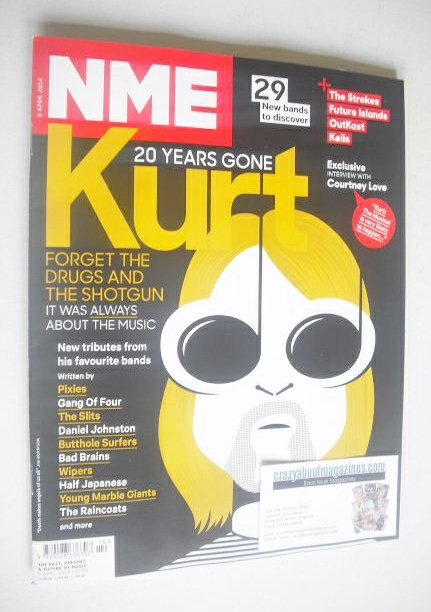 <!--2014-04-05-->NME magazine - Kurt Cobain cover (5 April 2014)