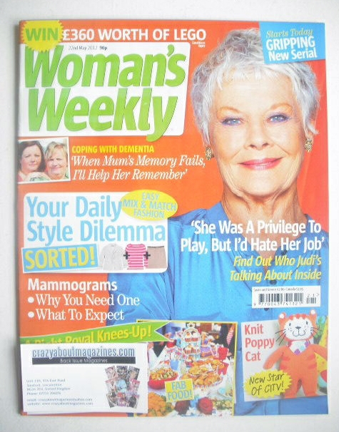 <!--2012-05-22-->Woman's Weekly magazine (22 May 2012 - Judi Dench cover)