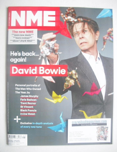 <!--2013-10-12-->NME magazine - David Bowie cover (12 October 2013)