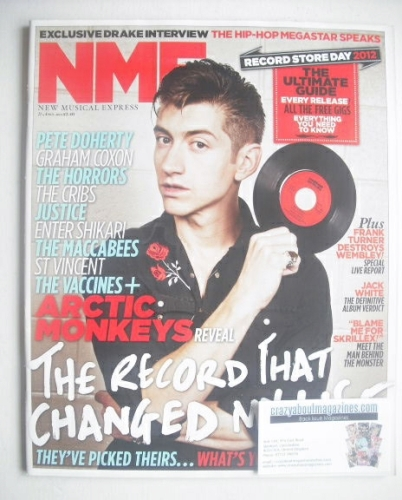 <!--2012-04-21-->NME magazine - Arctic Monkeys cover (21 April 2012)