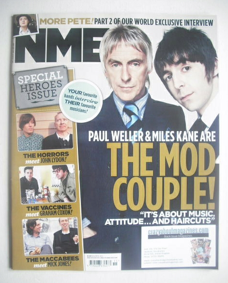 <!--2012-04-14-->NME magazine - Paul Weller & Miles Kane cover (14 April 20