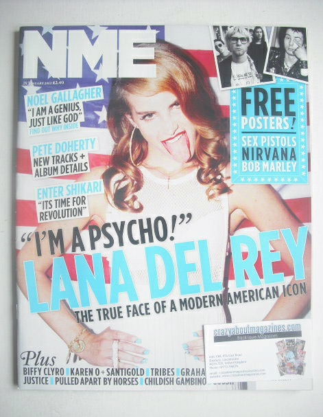 <!--2012-01-28-->NME magazine - Lana Del Rey cover (28 January 2012)