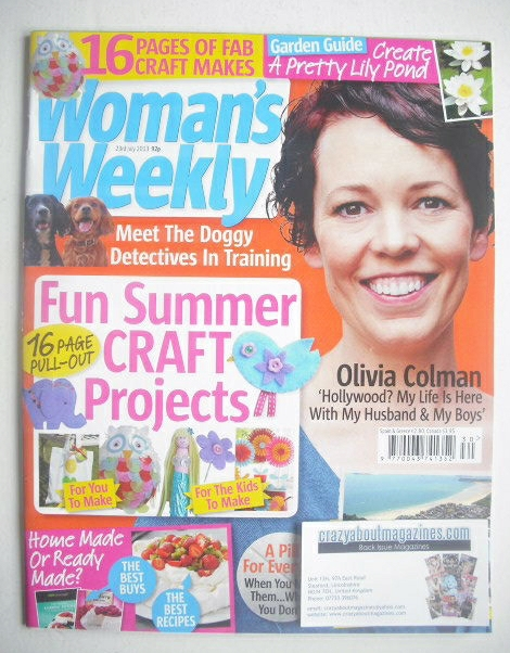 <!--2013-07-23-->Woman's Weekly magazine - Olivia Colman cover (23 July 201