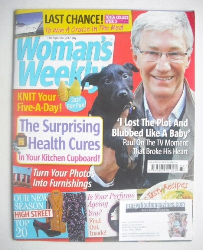 <!--2012-09-11-->Woman's Weekly magazine - Paul O'Grady cover (11 September