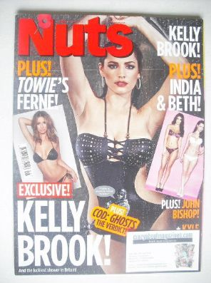 <!--2013-11-08-->Nuts magazine - Kelly Brook cover (8-14 November 2013)