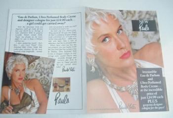 Paula Yates fragrance leaflet (1980s)