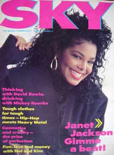 <!--1987-05-->Sky magazine - Janet Jackson cover (21 May-3 June 1987 - No 3
