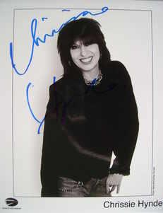 Chrissie Hynde autograph