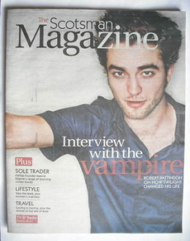 The Scotsman magazine - Robert Pattinson cover (7 November 2009)