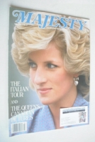 <!--1985-06-->Majesty magazine - Princess Diana cover (June 1985 - Volume 6 No 2)