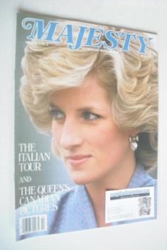 Majesty magazine - Princess Diana cover (June 1985 - Volume 6 No 2)
