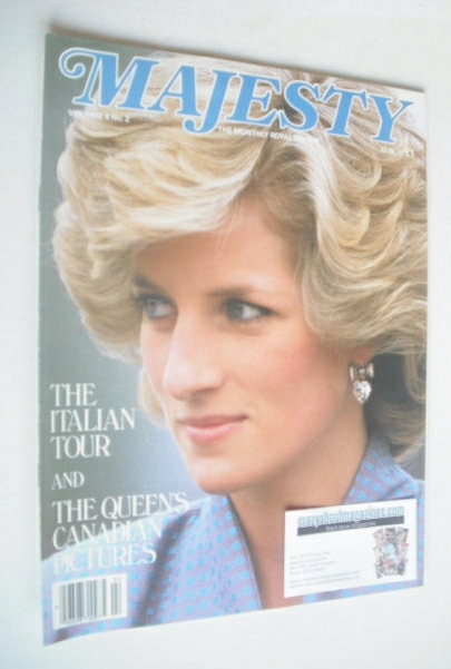 <!--1985-06-->Majesty magazine - Princess Diana cover (June 1985 - Volume 6