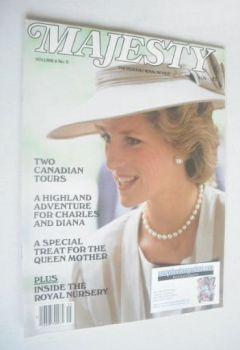 Majesty magazine - Princess Diana cover (September 1985 - Volume 6 No 5)