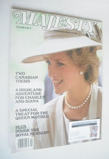 <!--1985-09-->Majesty magazine - Princess Diana cover (September 1985 - Vol