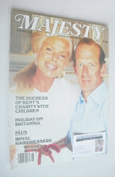Majesty magazine - The Duke and Duchess of Kent cover (October 1985 - Volume 6 No 6)