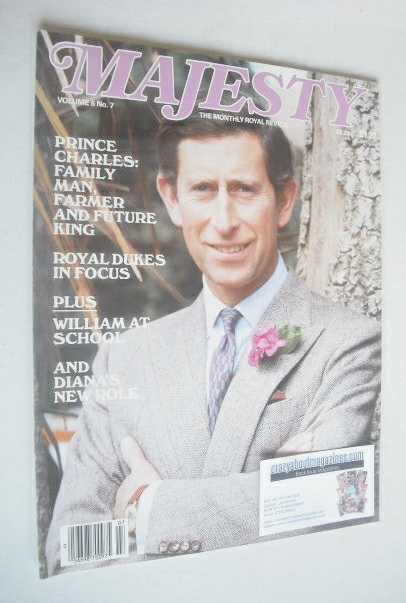 <!--1985-11-->Majesty magazine - Prince Charles cover (November 1985 - Volu