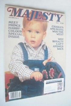 Majesty magazine - Prince Harry cover (January 1986 - Volume 6 No 9)